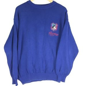 Disney Mickey Mouse Pullover Sweater Navy Blue L